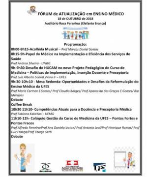 Programação Fórum de atualização em Ensino Médico